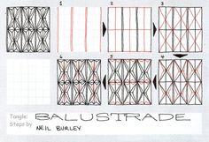 Balustrade - tangle pattern