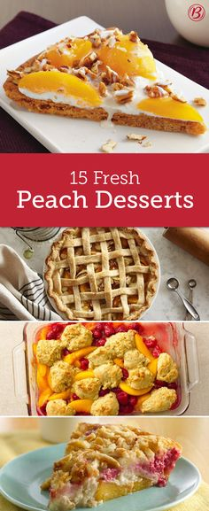 This summer, think beyond classic peach cobbler! These easy ideas--including peach cookie pizza, peach pie and peach-cheesecake crumble--will entice you to stock up on peaches while they're at their juiciest peak.
