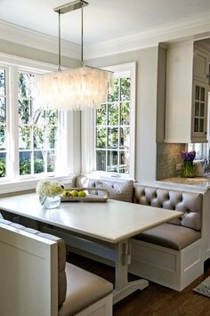 ... light windows colors more dining room breakfast nooks banquettes light
