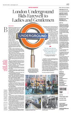 London Underground Bids Farewell to Ladies and Gentlemen|The Epoch Times #UK #newspaper #editorialdesign