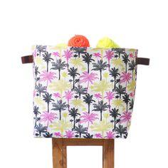 XLarge Square Palm Tree Laundry Hamper, Laundry Basket, Toy Storage,  Nursery Fabric Basket
