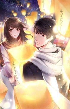 Anime Boy and girl Couple Amour Anime, Couple Anime Manga, Anime Cupples, Anime Love Couple, Anime Kawaii, Cute Anime Couples, Art Anime Fille, Anime Art Girl, Anime Picture Boy