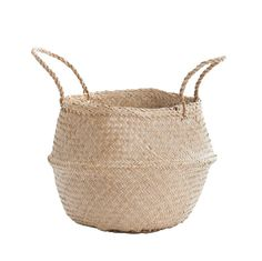 <div>Whether organizing toys and books, or storing all of your must have beach accessories, the Belly Basket is a fun and flirty piece for your home and travels. This basket is ideal for organizing your kids toys or clothes and is much cuter then any of those over sized plastic organizing bins--this basket actually adds to the style of your home instead of taking away from it. Slide it into any corner or under a coffee table or add it to shelves to throw in a little beachy…