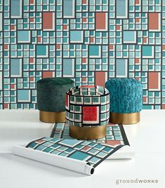 In her latest Groundworks collection Kelly Wearstler offers an unexpected visual dialogue enhanced by graphic structure in patterns and nature in an ever-evolving yet still current color palette.