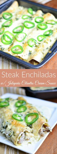 Steak Enchiladas wit