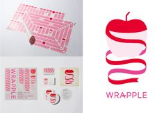 Lovely branding for Wrapple, a packaging and DIY company Brand Identity Design, Branding Design, Logo Design, Brand Packaging, Packaging Design, Japan Logo, Cosmetic Design, Branding Materials, Communication Design