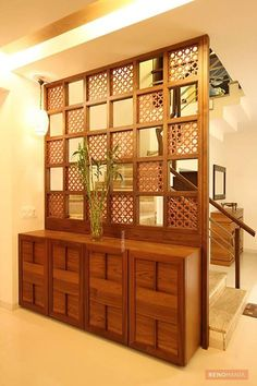 Inspiring Indian Home Design Ideas. Indian home design ideas must be unique and interesting ideas to apply inside your home. The different cultures of India is … home design inspiring indian home design ideas 301952350018531986 Living Room Partition Design, Living Room Divider, Room Partition Designs, Partition Ideas, Wall Partition, Living Room Entrance Ideas, Wooden Partition Design, Entrance Decor, Indian Interior Design