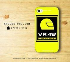 Valentino Rossi VR 46 Riders Academy Logo iPhone 4 4s Case   Dalmanaz - Accessories on ArtFire