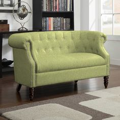 <strong>Three Posts</strong> Chesterfield Loveseat