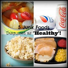 5 Junk Foods Disguised as 'Healthy' - No Diets Allowed No Junk Food Challenge, Clean Eating Challenge, Food Out, Good Food, Low Calorie Drinks, Sports Drink, Bad Habits, Natural Living, Diets