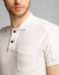 Borman Polo Shirt - Natural White Jersey Shirts and Tops