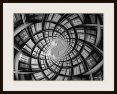 Modern digital black and white download by FractalFrax on Etsy, $5.00