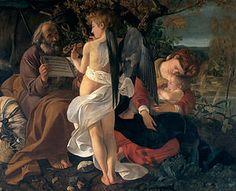 Descanso na Fuga para o Egito (Caravaggio) – Wikipédia, a enciclopédia livre