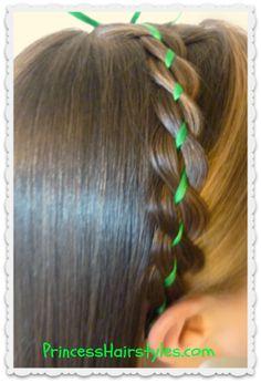 Ribbon braid headband tutorial
