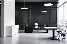 Multipli CEO black executive office desks.