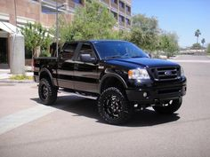 Lifted Black Ford F-150. <3 Next!