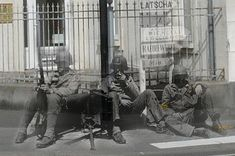 Dutch historian Jo Teuwisse creates these images by combining digitized photo negatives from the war with painstakingly framed photos of the same locations as they are today. Candy Christmas Decorations, Christmas Candy, Tree Decorations, World History, World War Ii, Then And Now Pictures, Photo Negative, Civil War Photos, Historian