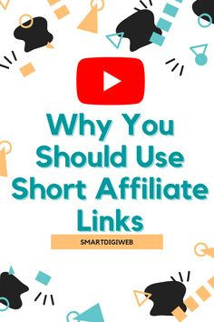 Why You Should Use Short Affiliate Links. The reasons why you should use short affiliate links are: 1- Pretty URL 2- Track clicks and their origins 3- Facilitate maintenance Link Youtube, Promotion, Thing 1, Shorts, Origins, How To Make, Track, Pretty, Runway