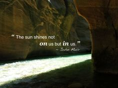 I learned about John Muir from the National Parks documentary by Ken Burns. So I did some reading about Muir, took a dozen of his quotes, and matched them up t… Happy Quotes, Great Quotes, Quotes To Live By, Me Quotes, Inspirational Quotes, Motivational, Citations De John Muir, Cool Words, Wise Words