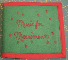 A fun felt CD case adds extra spark when youre gifting a holiday (or any) music mix. Any Music, Music Mix, Mix Cd, Cd Cases, Home Furnishings, Merry, Felt, Kids Rugs, Passion
