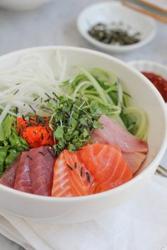 Recipe: Korean Mixed Rice with Sashimi