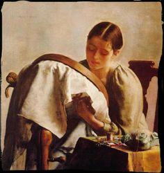 De filenfil: Les brodeuses dans la peinture again