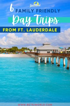 Fort Lauderdale, Florida is one of those destinations that is close to many hot spots, perfect for a quick getaway. Taking a day trip is an affordable way to have a mini vacation, especially if you don't have a lot of time. These six fun, family friendly day trips from Fort Lauderdale are a great way to make a quick escape this summer. #daytrip #summervacation #fortlauderdaleflorida #familyvacationdestinations #familyvacation #travel #florida
