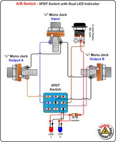 a b switch wiring diagram led indicator 3pdt switch electric rh pinterest com Transfer Switch Wiring Diagram Dpdt Switch Wiring Diagram