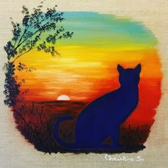 peinture à l'huile sur toile de lin écru 20x20