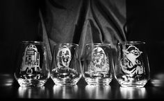 Star Wars Etched wine glass set