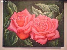 Solange Gama Coelho: Pintura em Tela,Tecido,Cursos-9196-6422(Claro),9854-3743(Tim)-Curitiba: Rosas salmão