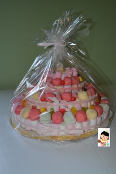 Torta di marshmallows - Marshmallows and candies cake