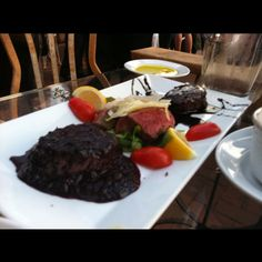 Acqua al 2, but in DC! Steak sampler with the infamous blueberry steak!