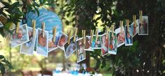 baby naming day photo garland, you could put photos of all the relatives as a…