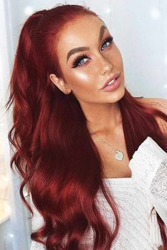 Sexy Burgundy Hair ❤️ Summer hair colors 2018 will work for every girl! There's an idea for brunettes, for blondes, and for redheads The popular rose gold, brown highlights, and caramel hues are waiting for you! ❤️ See more: - Hair Color Pelo Color Vino, Dyed Red Hair, Red To Blonde Hair, Red Hair Dye Colors, Red Velvet Hair Color, Best Red Hair Dye, Deep Red Hair Color, Violet Hair, Hair Colour