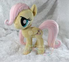 Custom Artist Handmade Fluttershy Filly Plush My Little Pony MLP | eBay     OMG! This is amazing! Now I really do need to learn to sew... 'cause I definitely can't afford these things.