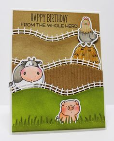 The Whole Herd, Grassy Edges Die-namics, Rolling Hills Die-namics, The Whole Herd Die-namics - Jody Morrow  #mftstamps