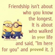 Top 30 Funny Minions Friendship Quotes - Quotes and Humor Cute Quotes, Great Quotes, Funny Quotes, Inspirational Quotes, Humor Quotes, Minion Jokes, Minions Quotes, Funny Minion, Minions Love