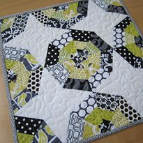 Spiderweb Block, foundation piecing technique.  Good for using up scraps!