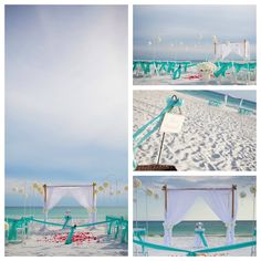 turquoise  beach wedding panama city beach by Princess Wedding Co