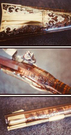 Flintlock Rifle, Flint And Steel, Black Powder Guns, Longhunter, Homemade Weapons, Long Rifle, Christmas Wood Crafts, Gun Art, Seed Bead Patterns