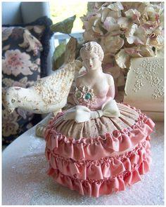 Antique Pincushion Half Doll