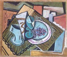 Emil Filla  painting signed art Czech painter avant-garde cubism Filla  #expressionismcubismsurrealism