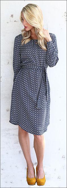The Chloe Shift dress in black and white print