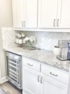 Supreme Kitchen Remodeling Choosing Your New Kitchen Countertops Ideas. Mind Blowing Kitchen Remodeling Choosing Your New Kitchen Countertops Ideas. White Kitchen Cabinets, Kitchen Redo, New Kitchen, Kitchen Dining, Kitchen Ideas, Pantry Ideas, Kitchen Cabinetry, Awesome Kitchen, Small Condo Kitchen