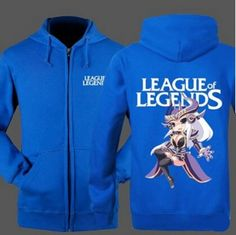 League of Legends fleece zip hoodies for men Syndra printed college sweatshirts