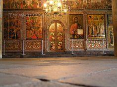 Inside The Church of Elijah the Prophet in Yaroslavl, Russia.
