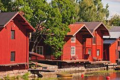 Summertown Porvoo Finland - well known for it's shoreline houses. They were once used to store merchandise and exotic delicacies from distant lands. Places Ive Been, Places To Go, Finland Travel, Urban Nature, Scandinavian Home, Travel Abroad, Helsinki, Old Town, Architecture