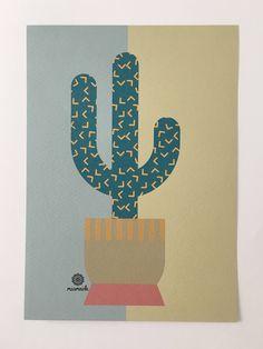 Ein persönlicher Favorit aus meinem Etsy-Shop https://www.etsy.com/de/listing/558569523/kaktus-illustration-print-pflanze
