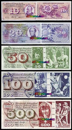 Switzerland banknotes - Switzerland money catalog and Swiss currency history